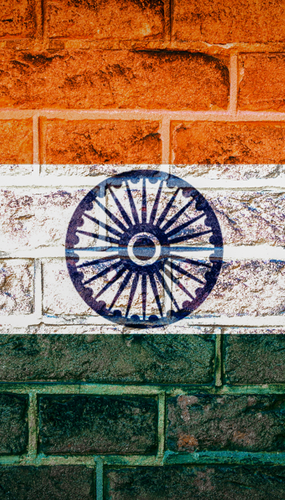 Graffiti of Indian Flag.